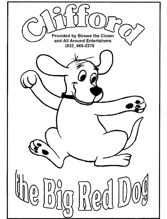 Clifford Big Red Dog Coloring Page | cartoon